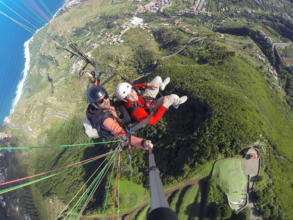 paragliding in Tenerife Villa Mandi norte