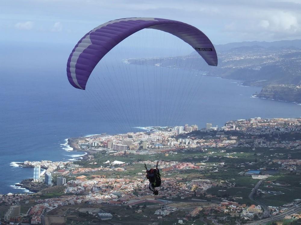 parapente en Tenerife Villa mandi La corona
